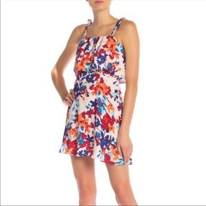 New Parker Floral Printed Popover Shift Dress